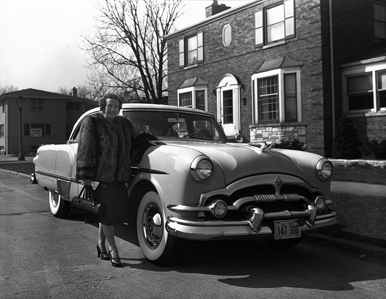 Lady with Packard